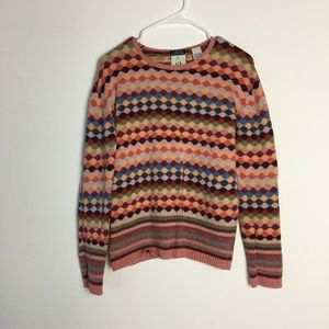 Anthropologie Cousin Johnny Striped Colors Sweater